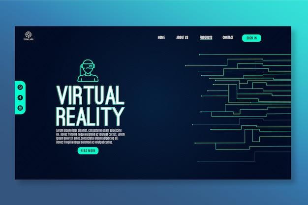 Technologie Et Modèle De Page De Destination Future Vecteur gratuit