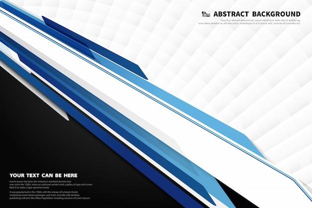 Technologie Moderne Abstraite De Fond De Décoration De Modèle De Conception Bleu Et Blanc. Vecteur Premium
