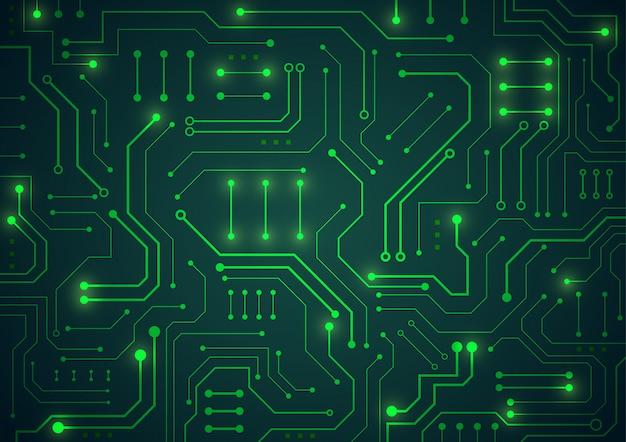 Technologie de pointe géométrique Vecteur Premium
