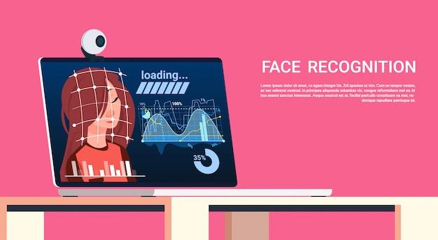Technologie de reconnaissance biométrique de balayage biométrique sur l'authentification d'utilisateur portable Vecteur Premium