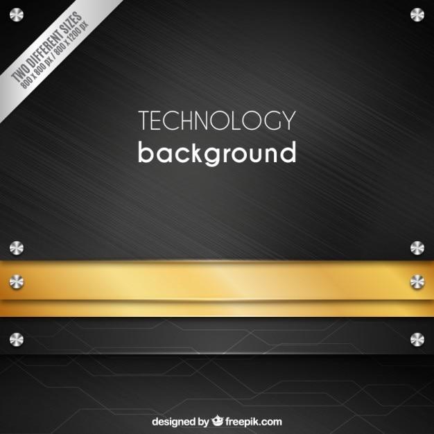 Technologie Texture De Fond En Métal Vecteur Premium