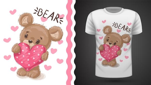Tee-shirt cute pear - idea for print Vecteur Premium