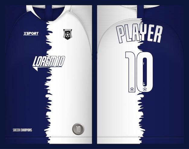 Tee-shirt jersey de football - sport Vecteur Premium