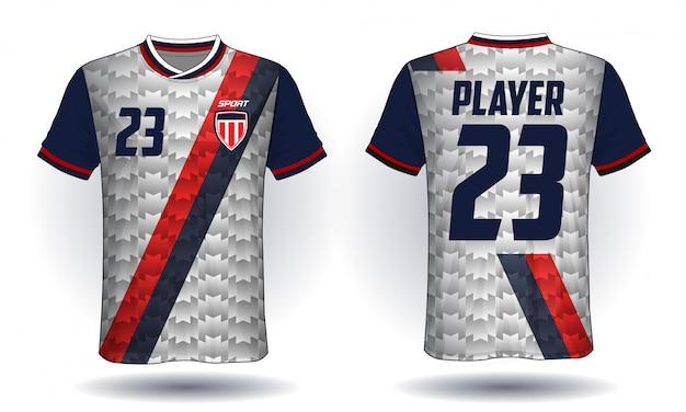 Tee-shirt sport jersey de football Vecteur Premium