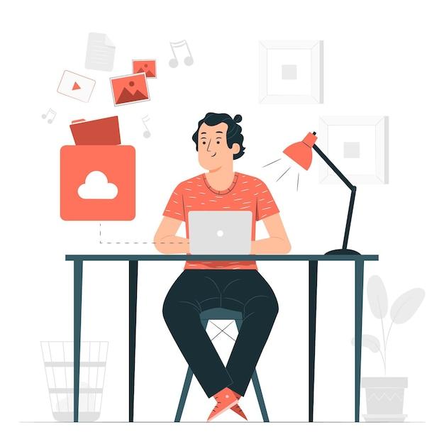Téléchargement De L'illustration Du Concept Vecteur gratuit