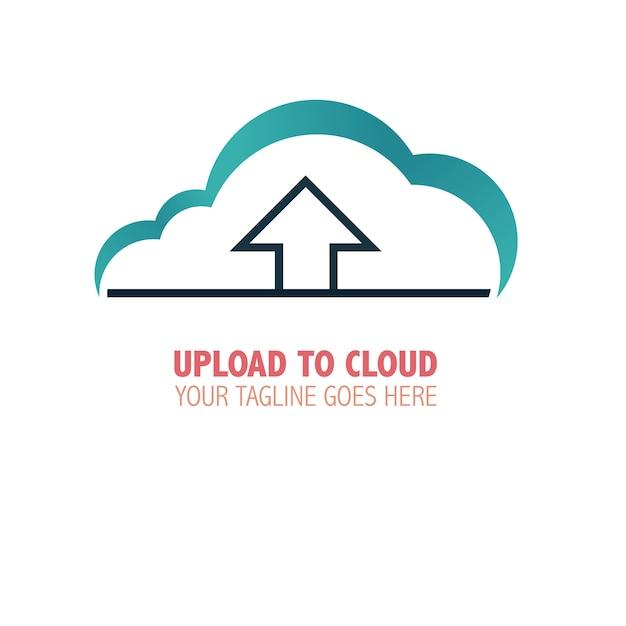 Télécharger sur le logo cloud Vecteur gratuit