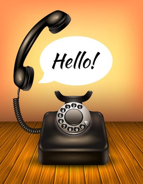 Téléphone Avec Bulle De Dialogue Vecteur gratuit