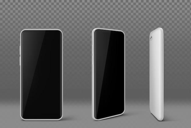 Téléphone Portable Blanc Avec écran Noir Vecteur gratuit