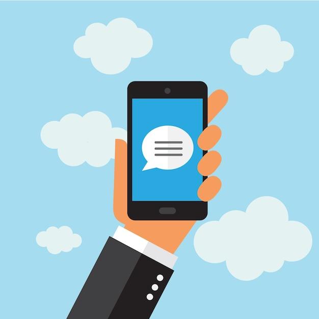 Téléphone portable design fond Vecteur gratuit