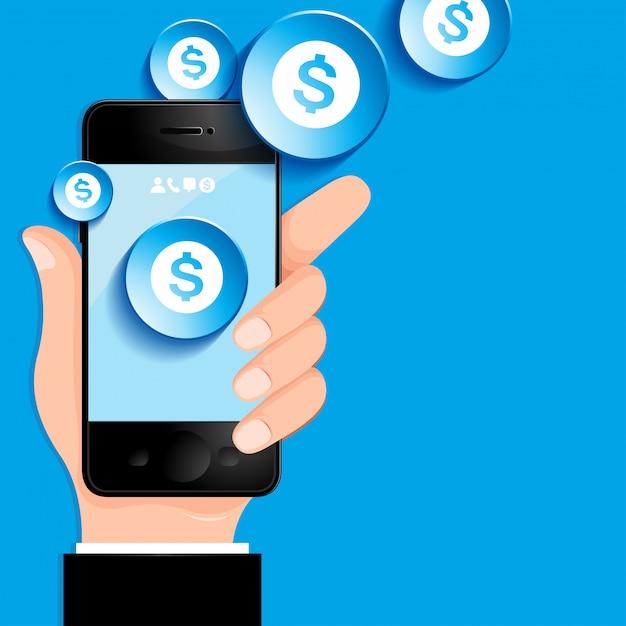 Téléphone portable Vecteur Premium