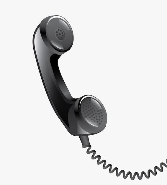 Téléphone, téléphone, contact Vecteur gratuit