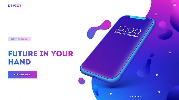 Téléphones intelligents de prochaine génération Vecteur Premium