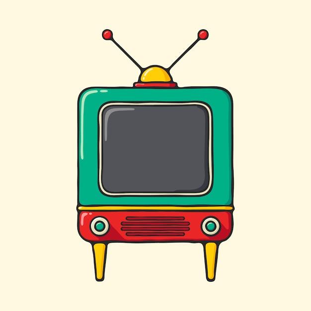 Téléviseur vintage Vecteur Premium