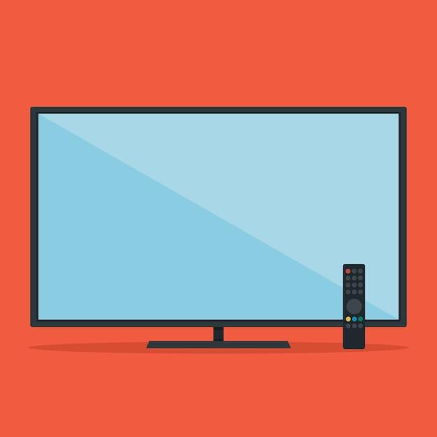 Télévision à écran plat Vecteur Premium