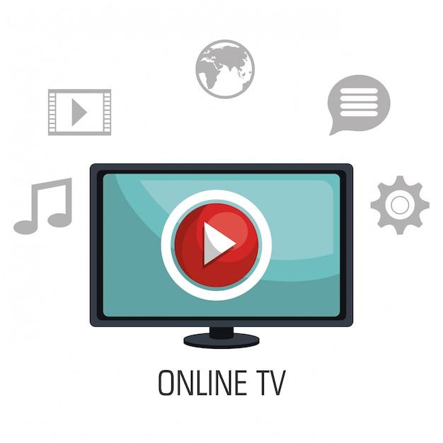 Télévision En Ligne Vecteur gratuit