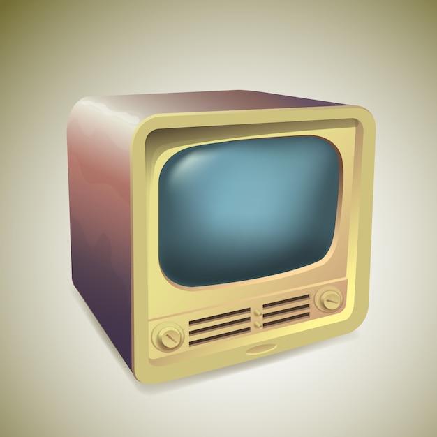 Télévision rétro Vecteur Premium
