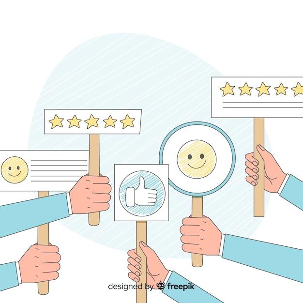 Témoignage de satisfaction client Vecteur gratuit