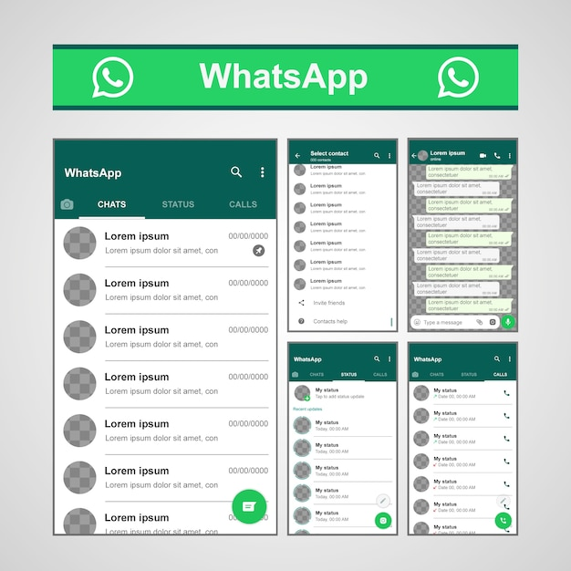 Template Whatsapp Vecteur Premium