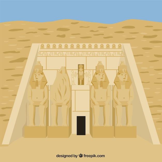 Temple d'abou simbel Vecteur gratuit