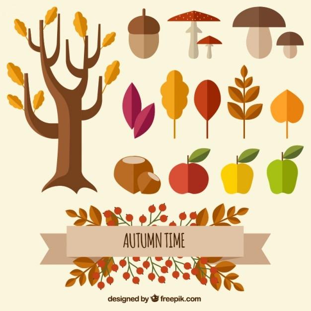 Temps automne nature Vecteur gratuit