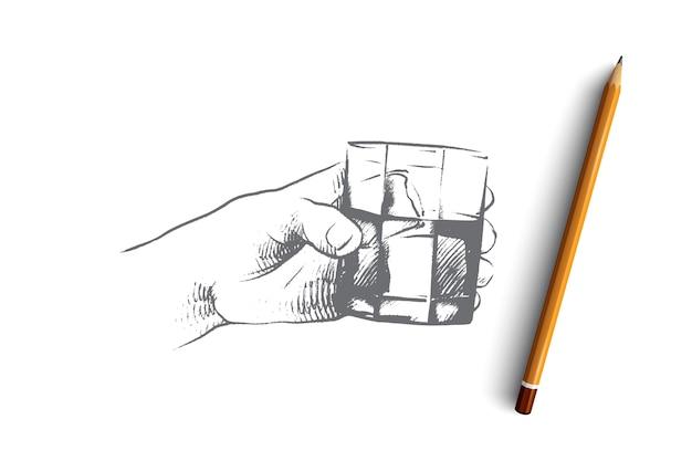 Temps De Boire Illustration De Concept Vecteur Premium