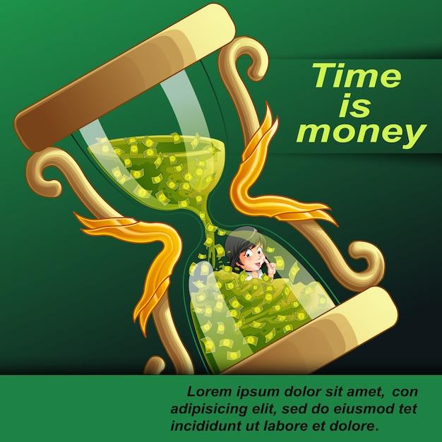 Le Temps, C'est De L'argent. Vecteur Premium