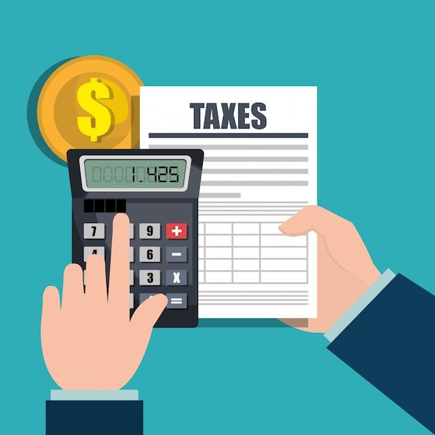 Temps Des Impôts Vecteur gratuit