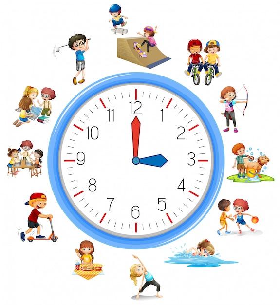 Le Temps Se Rapportent à L'activité Vecteur gratuit