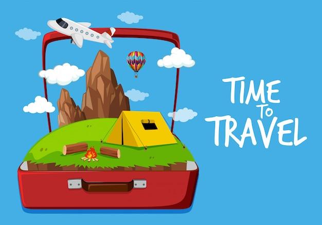 Temps de voyager icône Vecteur Premium