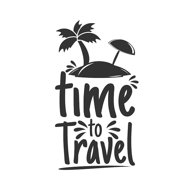 Temps de voyager Vecteur Premium
