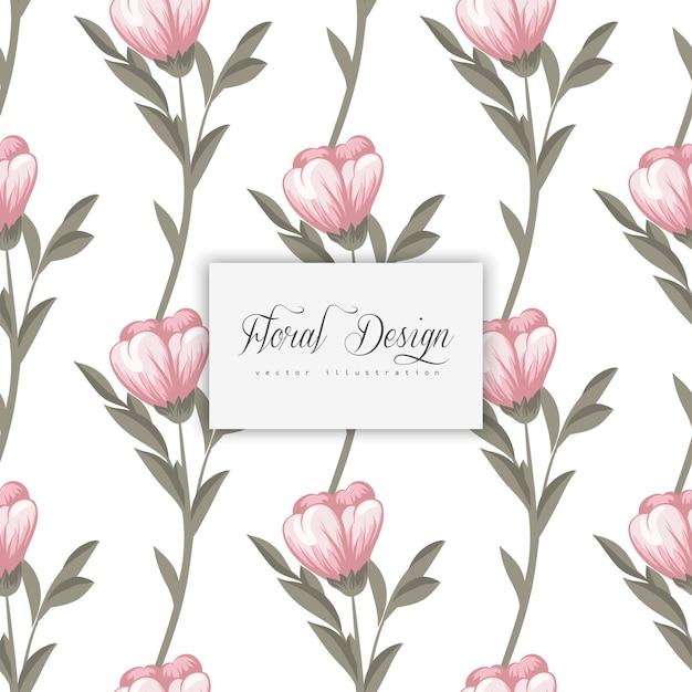 Tendance floral seamless pattern dans Vecteur gratuit