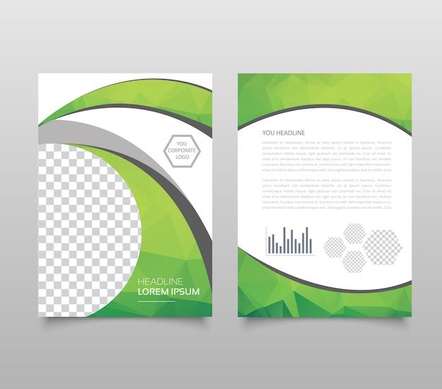 Tendance géométrique triangulaire et autre conception Vecteur Premium