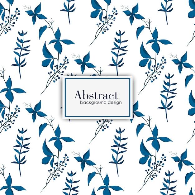 Tendance motif floral sans soudure en vecteur Vecteur gratuit