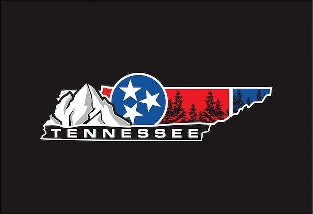 Tennessee Vecteur Premium