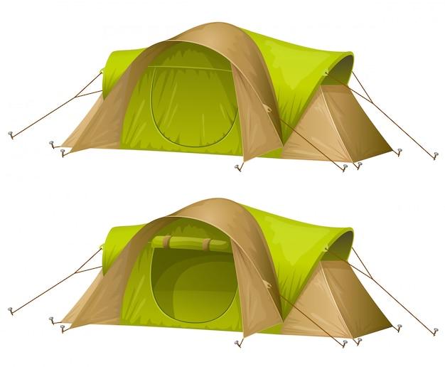 Tentes Touristiques Vecteur gratuit