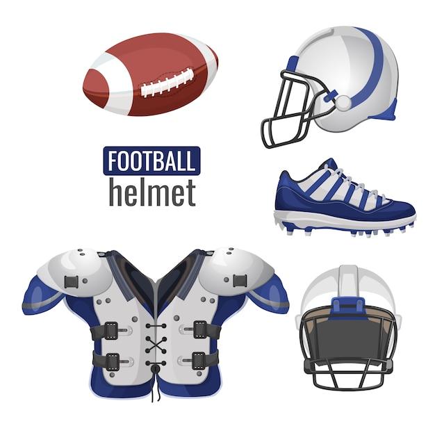 Tenue de joueur de football américain. Vecteur Premium