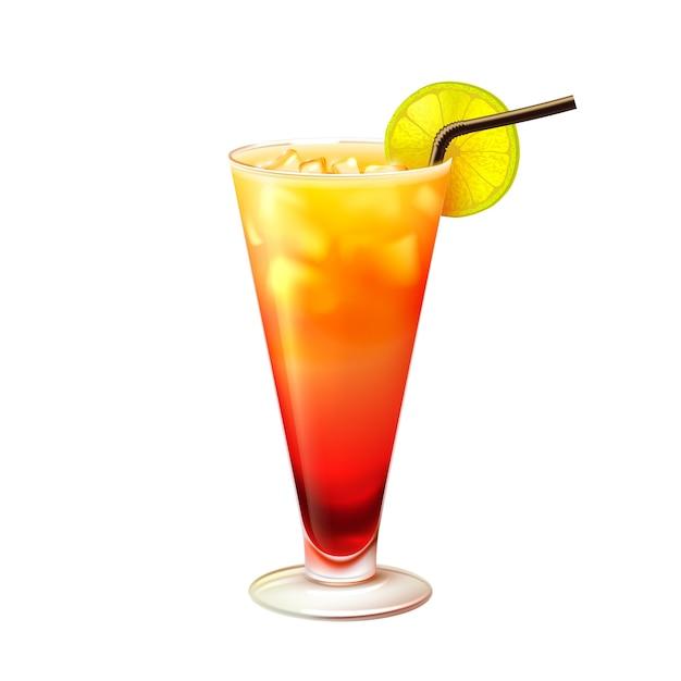 Tequila sunrise cocktail r aliste t l charger des vecteurs gratuitement - Dessin cocktail ...