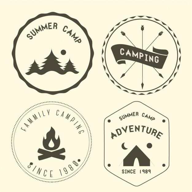 Terrain de camping Vecteur gratuit