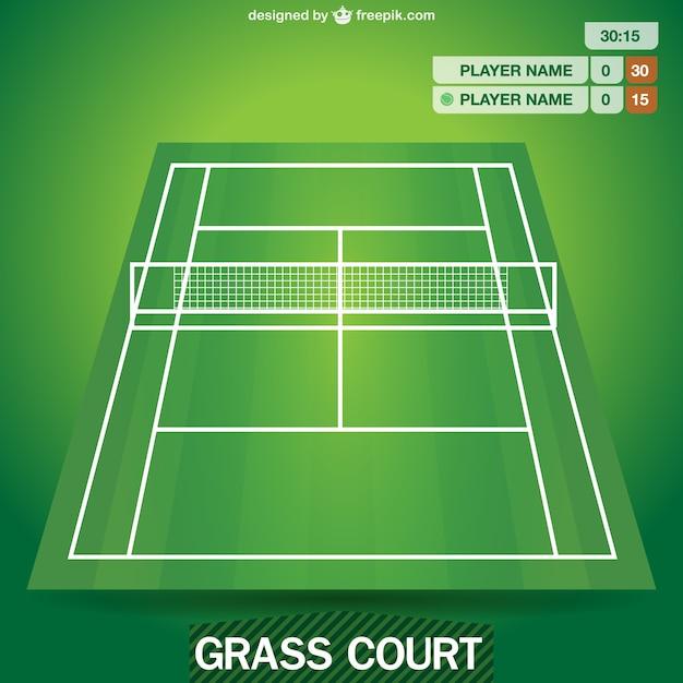 Terrain de tennis graphique vectoriel | Télécharger des Vecteurs ...