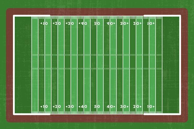Terrain De Football Américain Design Plat Vecteur gratuit