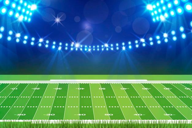Terrain De Football Américain Design Plat Vecteur Premium