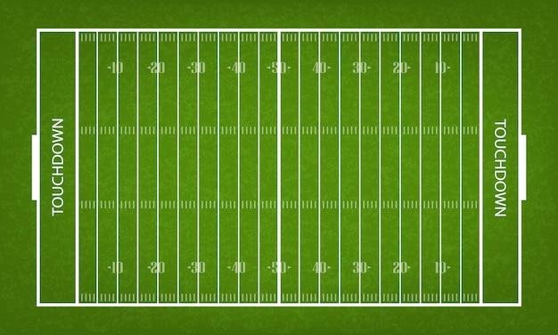 Terrain de football américain Vecteur Premium