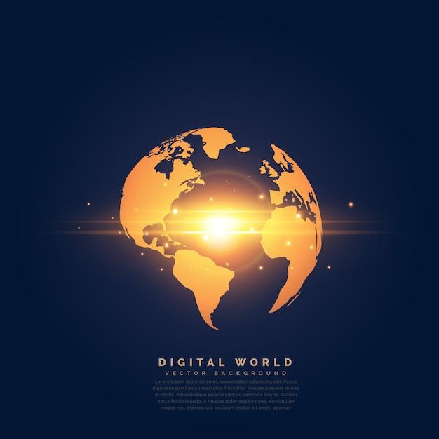 Terre D'or Créative Avec Effet De Lumière Centrale Vecteur Premium