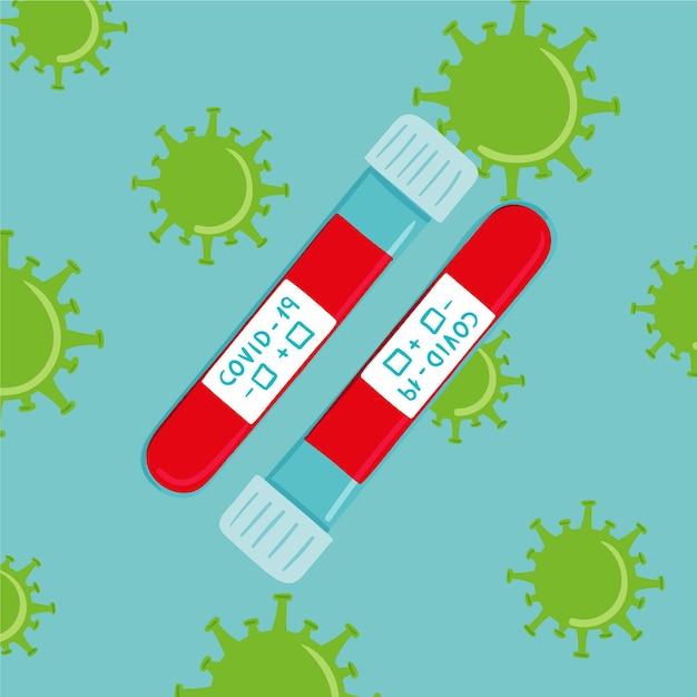 Test Sanguin De Coronavirus Vecteur gratuit