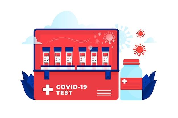 Tests Sanguins Illustrés De Coronavirus Vecteur gratuit