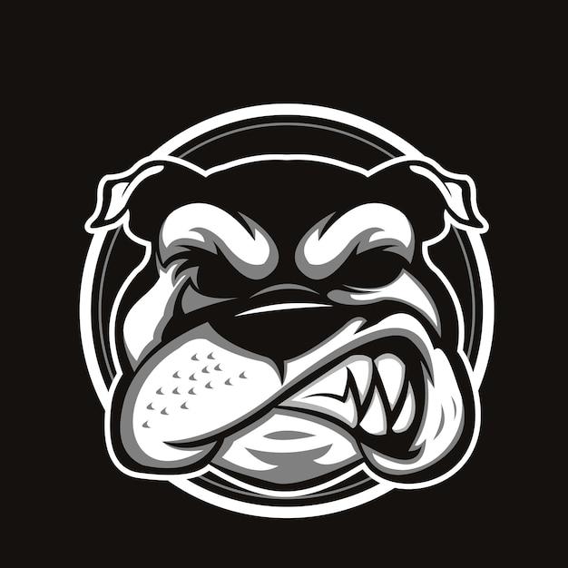 Tête de bulldog Vecteur Premium