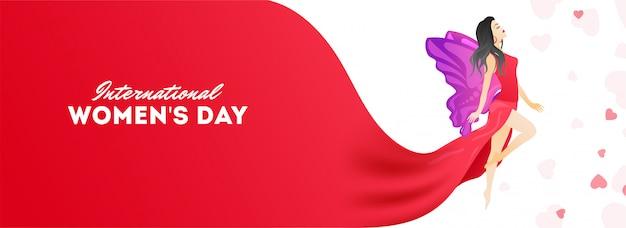 En-tête de la célébration de la journée internationale de la femme Vecteur Premium
