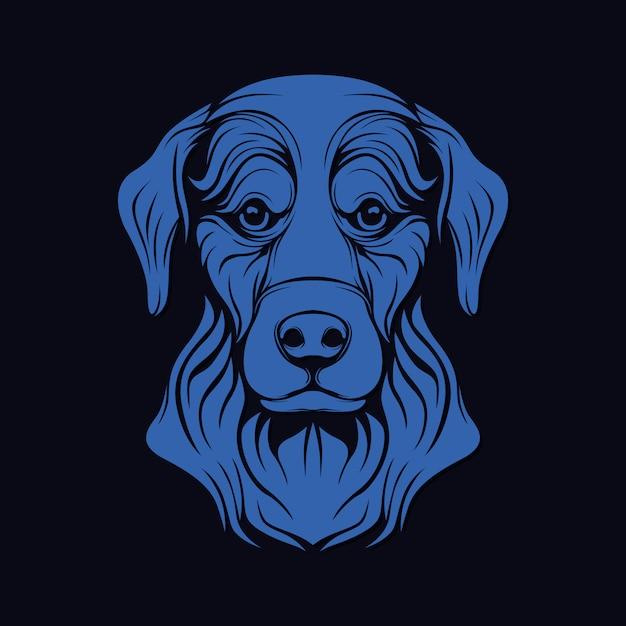Tête de chien Vecteur Premium
