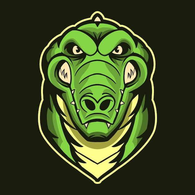 Tête De Crocodile Vecteur Premium