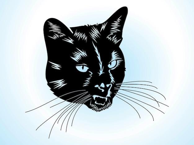 T te de chat mignon avec des moustaches t l charger des vecteurs gratuitement - Telecharger image de chat gratuit ...